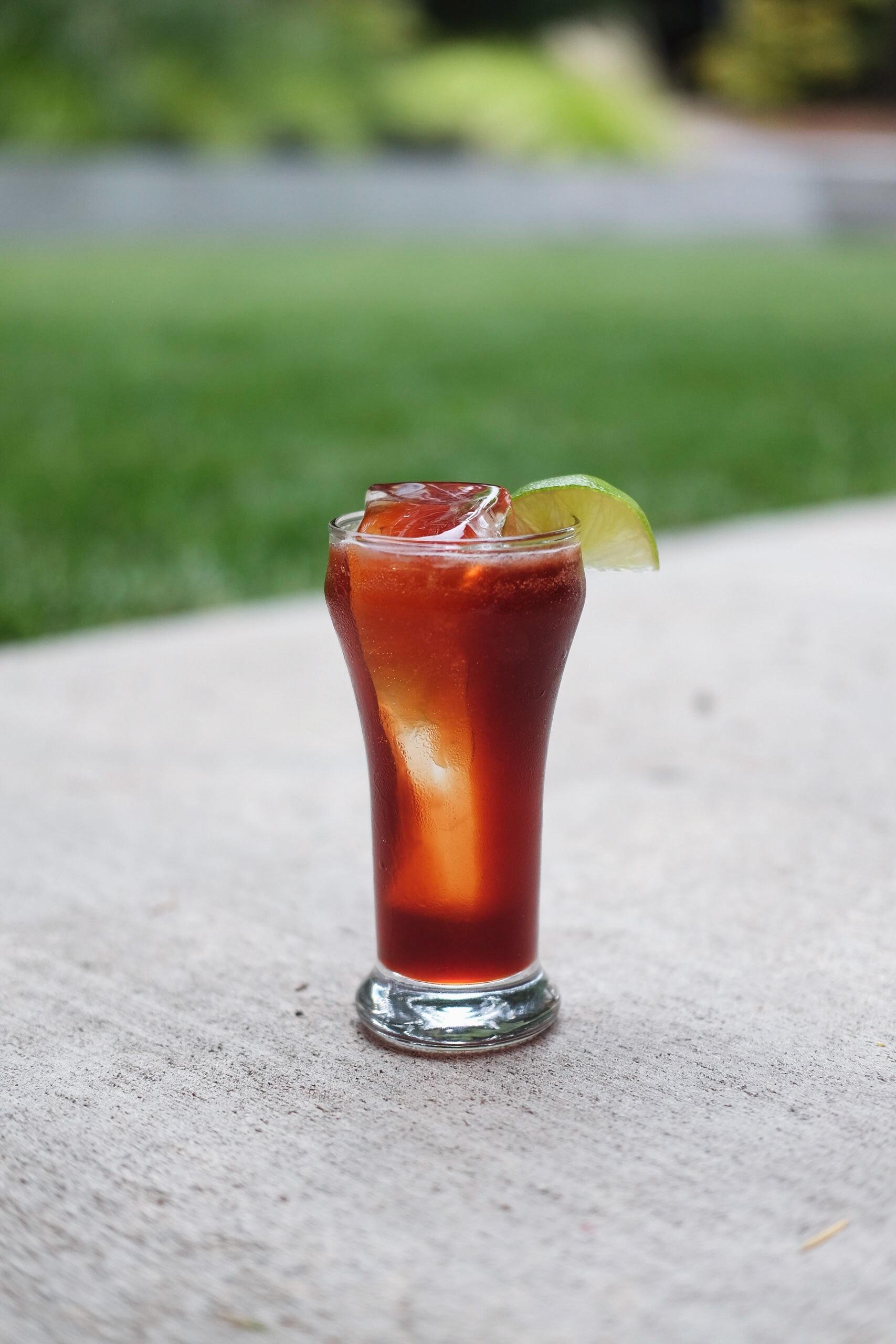 Better Than Cherry Coke - 1½ oz Dark Sweet Cherry-infused Vodka¾ oz vintage cola syrup½ oz fresh lime juicesoda water