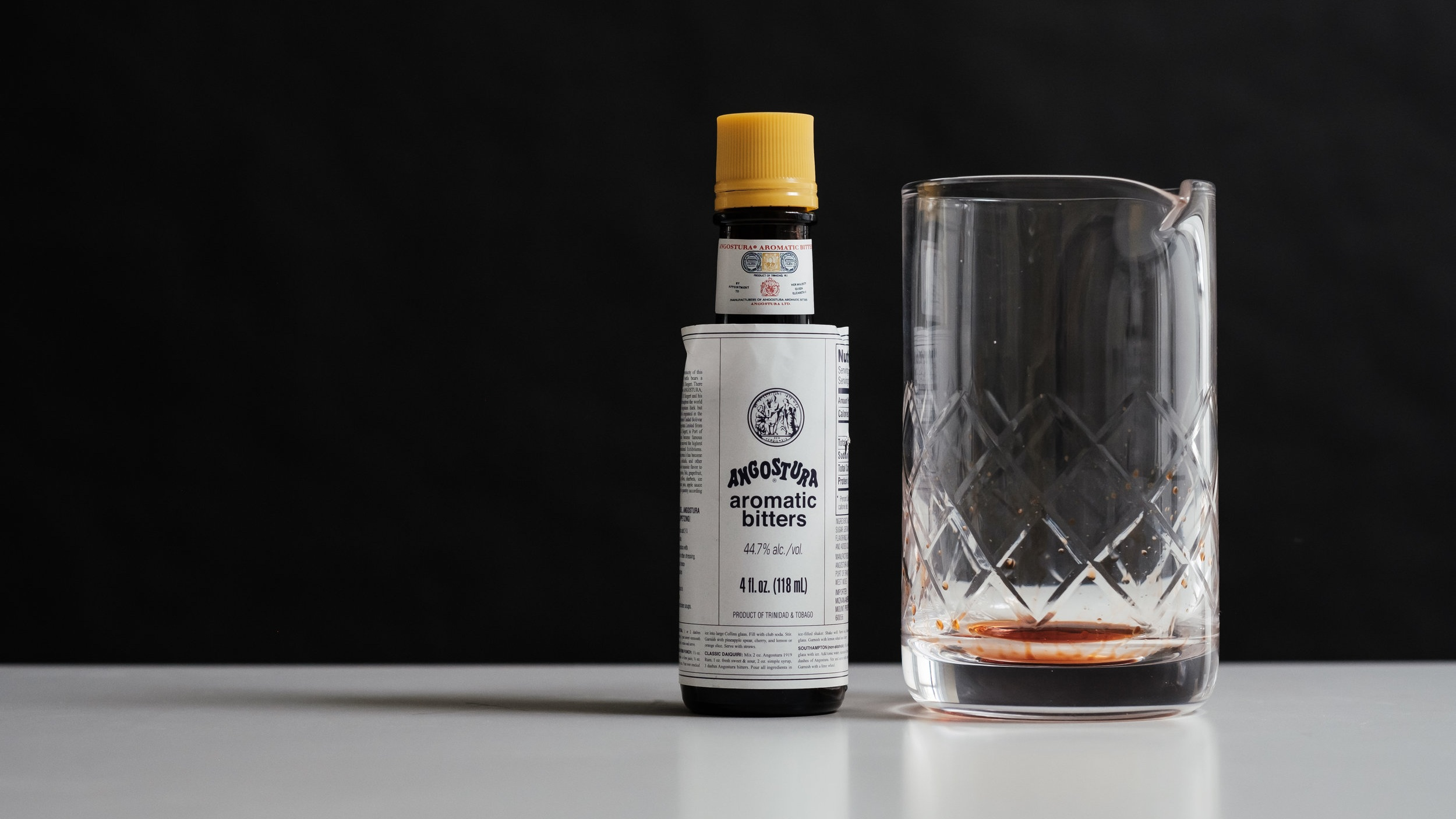 Add 2-3 dashes of aromatic bitters. -