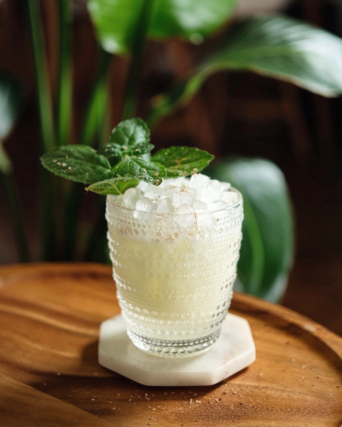 ingredients: - 1 oz The Walter Collective Gin¾ oz Green Chartreuse¾ oz fresh lime juice½ oz cream of coconut½ oz orgeat3 dashes orange bitters