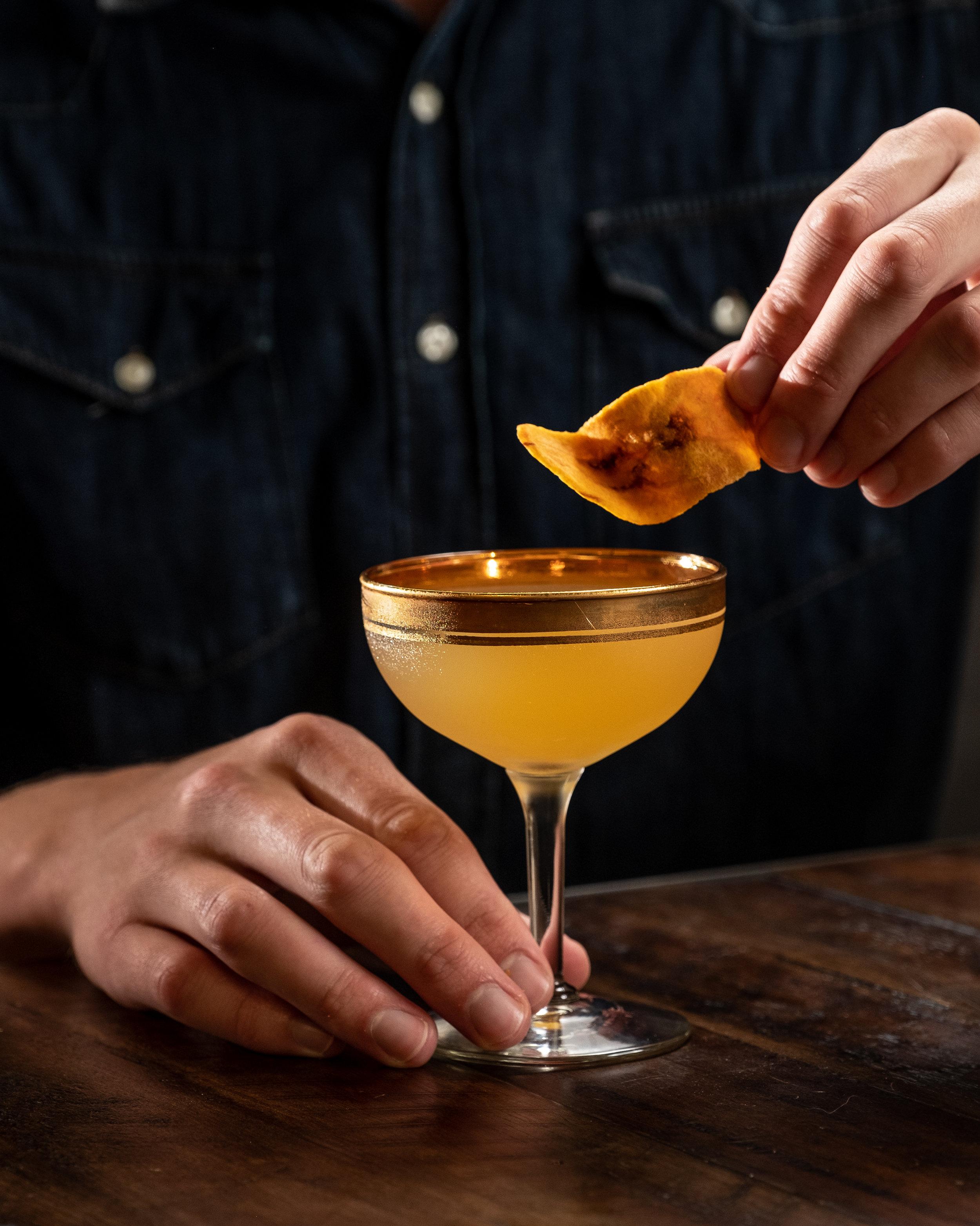 Banana Cognac Cocktail