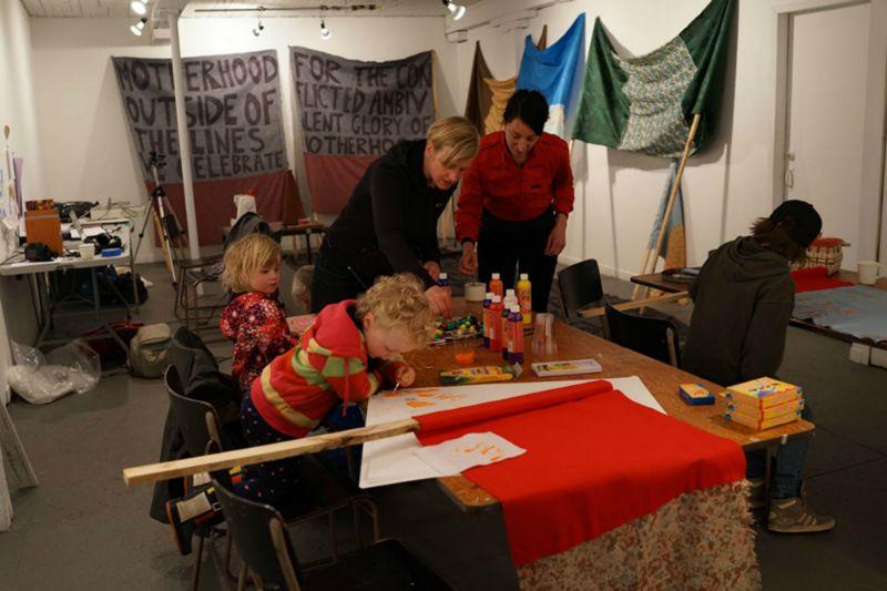 Making flags in studio