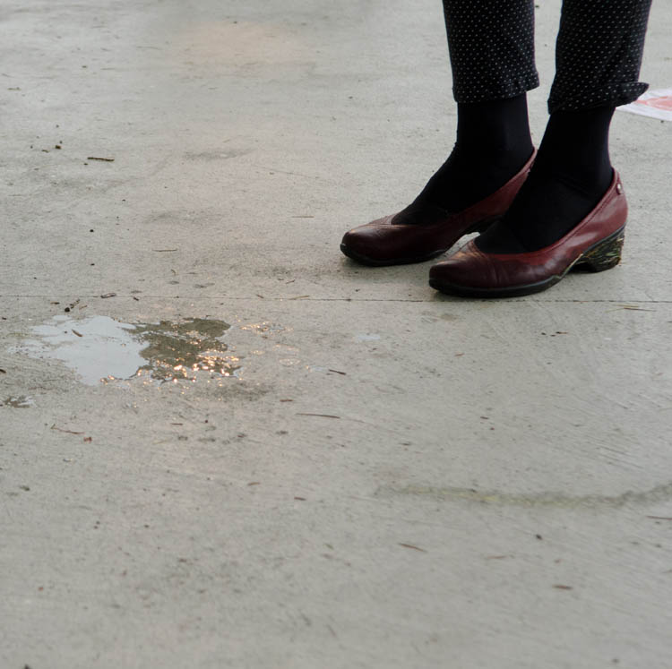 Melting Snow by Hand and other minor miracles • Melted snow on the floor of rotunda. Image courtesy Geoff Walker.