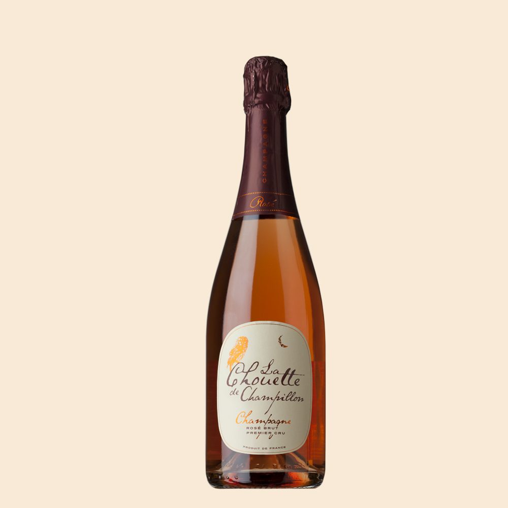 Champagne Chouette Premier Cru Rosé - Champagne Chouetten Rosé on pinot noirilla sävytetty elegantti samppanja. Pöllöperheen uusi tulokas!