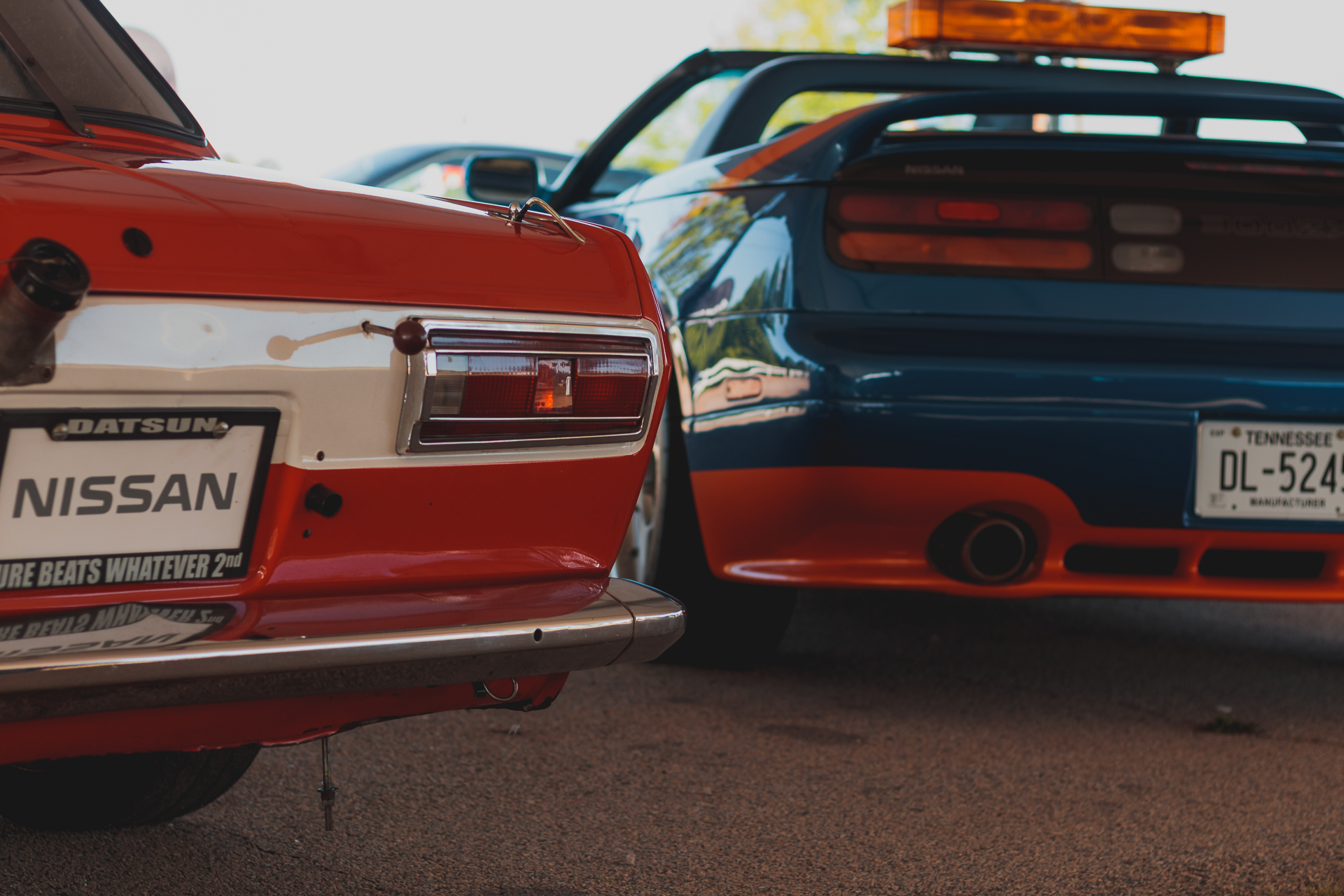 BRE Datsun 510 and a Nissan 300ZX pace car