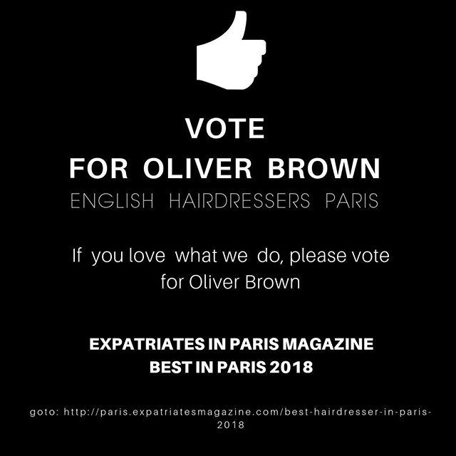 We would so appreciate you voting for us. It'll take 30 seconds, simply click on the link in our bio. Thank you!⠀ and vote for Oliver Brown.  Thank you, Gigi, Dean and the crew. xxx⠀ 🇫🇷🇦🇺🏳️‍🌈🇧🇷🇨🇮🇨🇦🇪🇺🇮🇳🇯🇵🇳🇿🇳🇿🇿🇦🇺🇸🇬🇧#style #paris🗼#bestinparis #bestinparis2018  #balayage #hairstyle #hairstylist #haircut #hairtransformation #englishhairsalon #parishair #parisstyle #expat #expatlife #expatriatesmagazine #expatriate #expatwoman #hairstyles #hair #haircolour #hairart #hairdresser #expatliving #parispulse #olaplex #nanokeratin #hairtreatment
