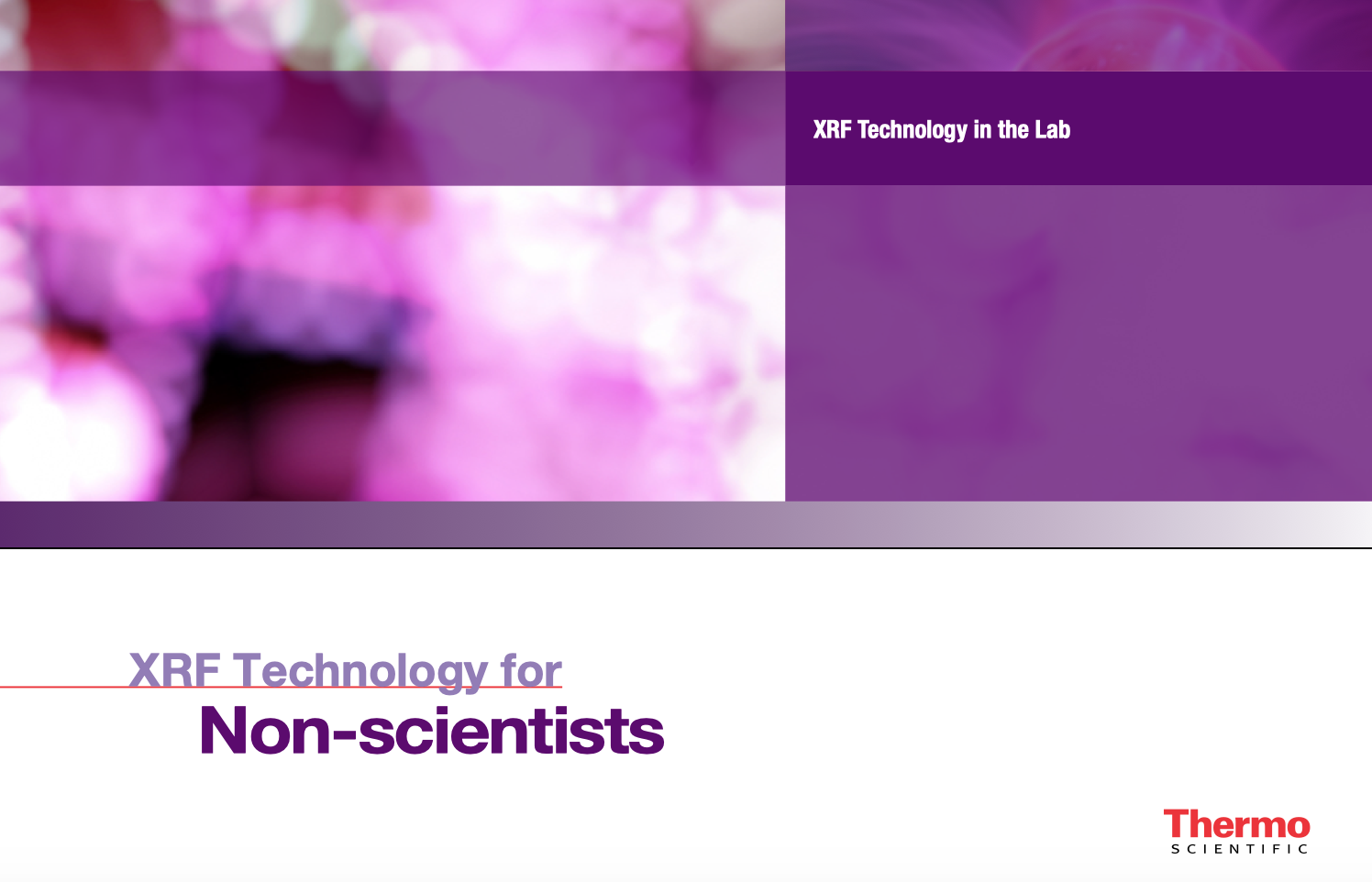 Link to booklet - WD & ED-XRF