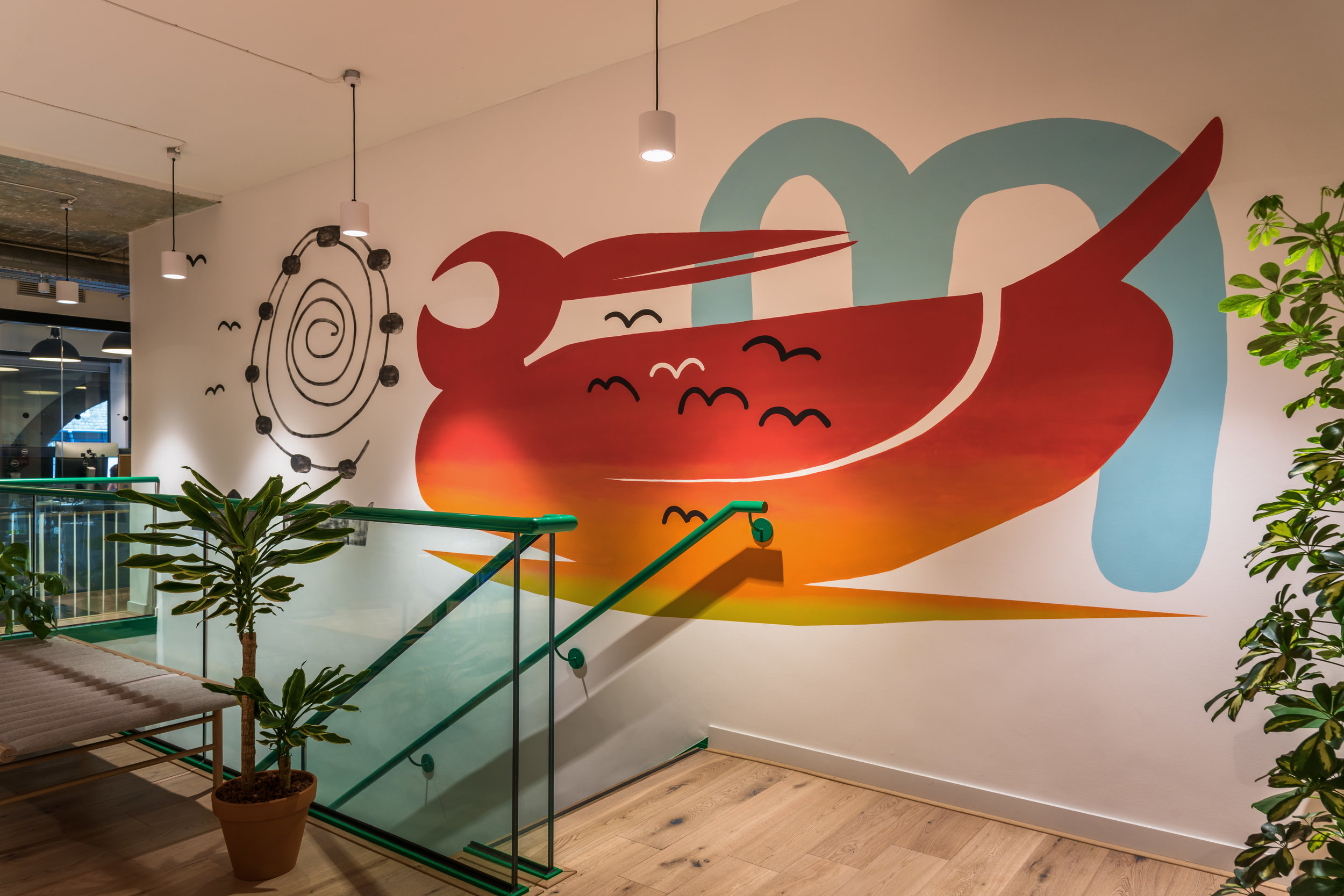 International House WeWork mural x Accent London