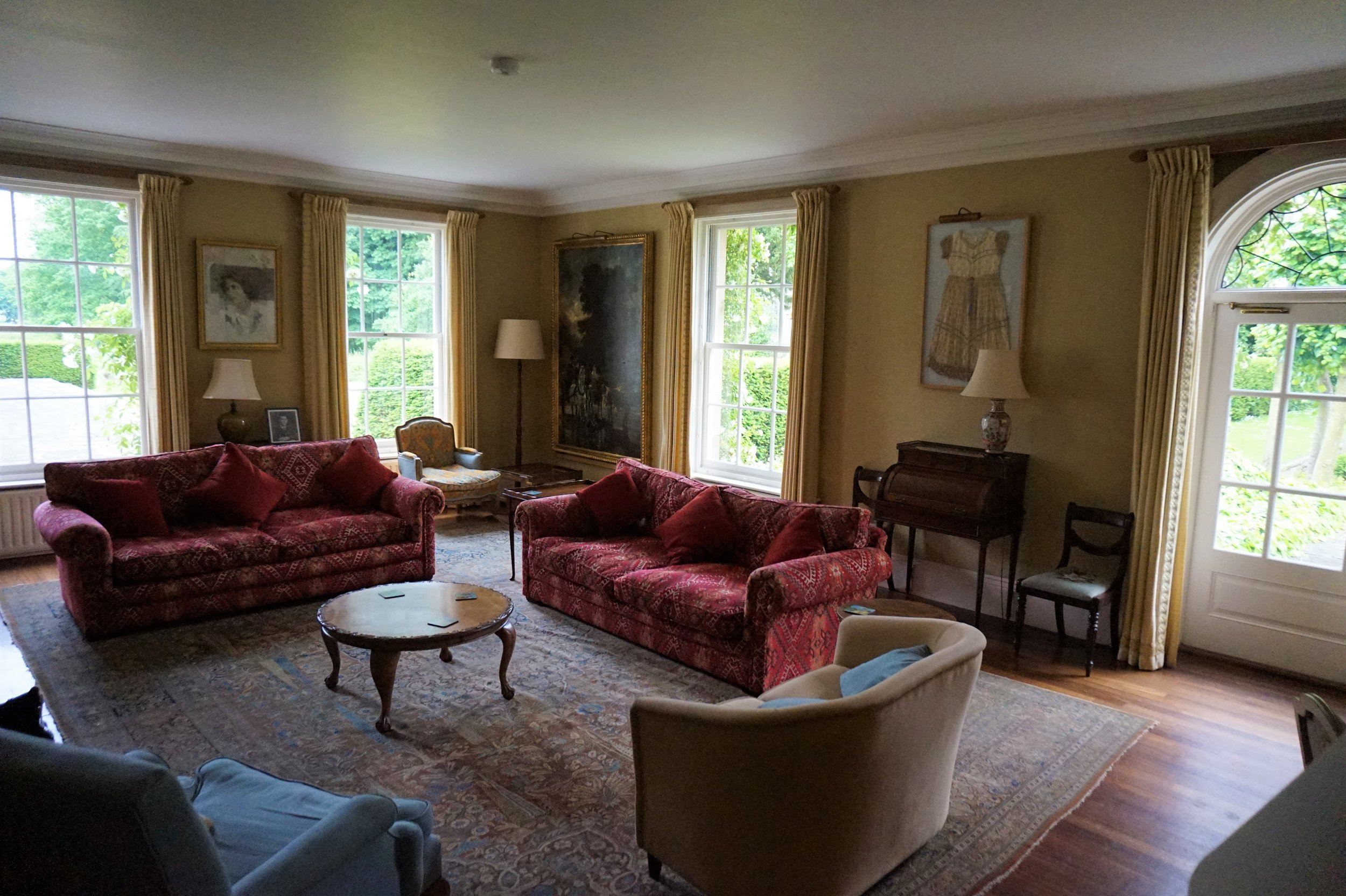 The Drawing room, where you can enjoy a fire on a cold night or open the doors onto the terrace on a warm summers' evening.