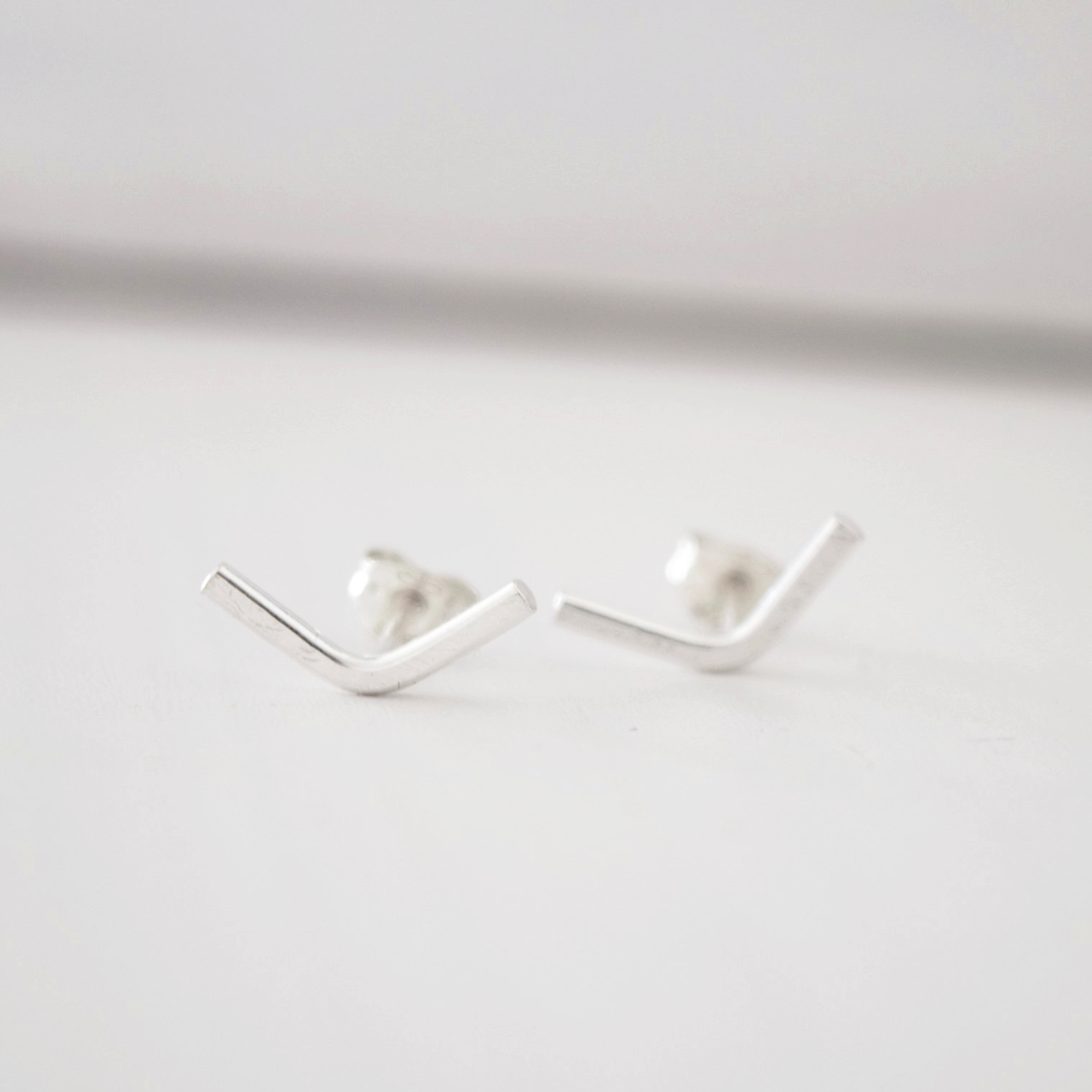 SILVER VALLEY STUD EARRINGS