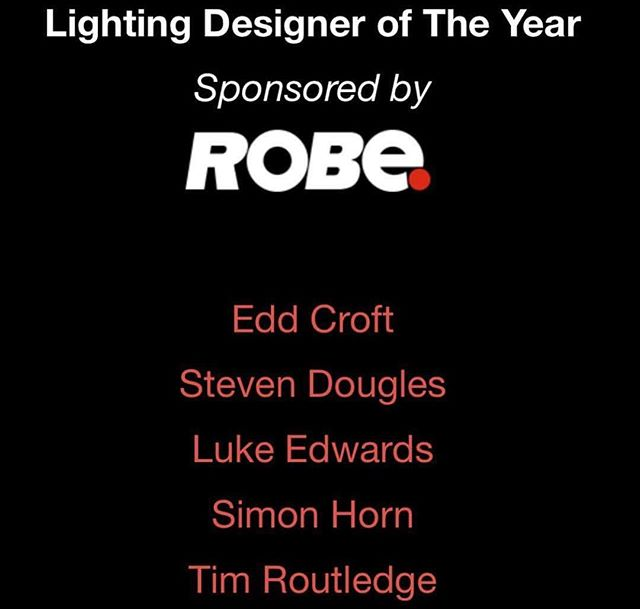 Congrats on our very own @edd_cr0ft being nominated for @tpimagazine lighting designer of the year!