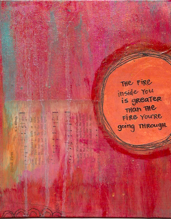 I made this mixed media painting a few years ago. You can read more  here  or purchase a print  here .