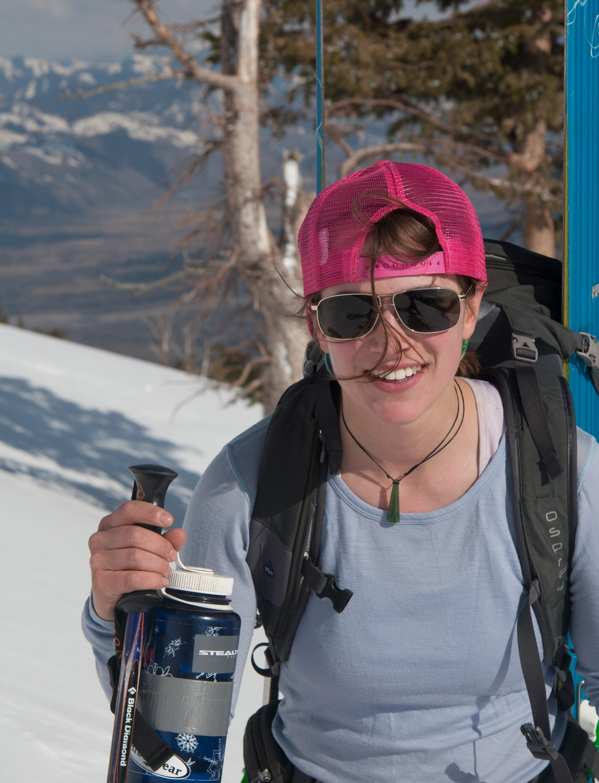 Founder Lorin paley taking a breather while skiing in the tetons.