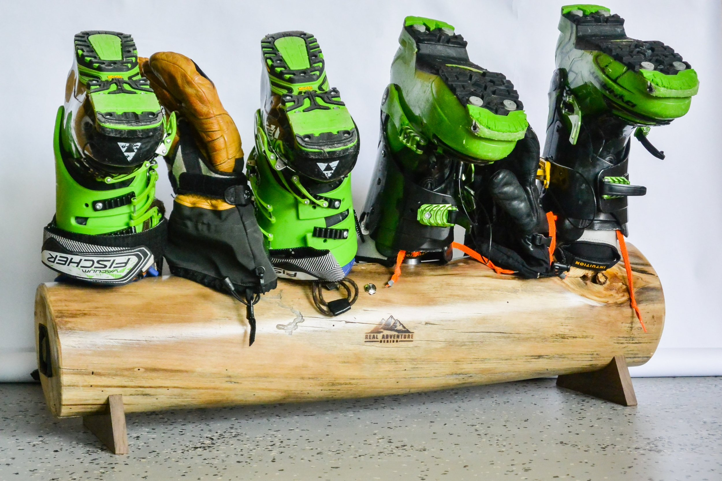 2 pairs of skis and boots fit nicely.