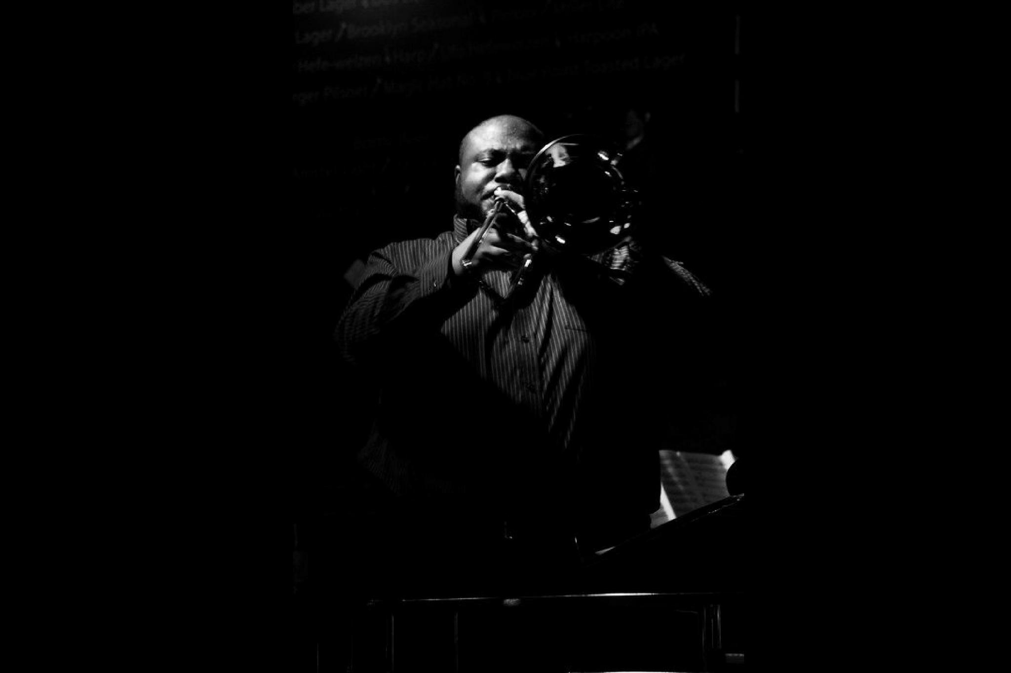 David White-trombone-04-bw.JPG