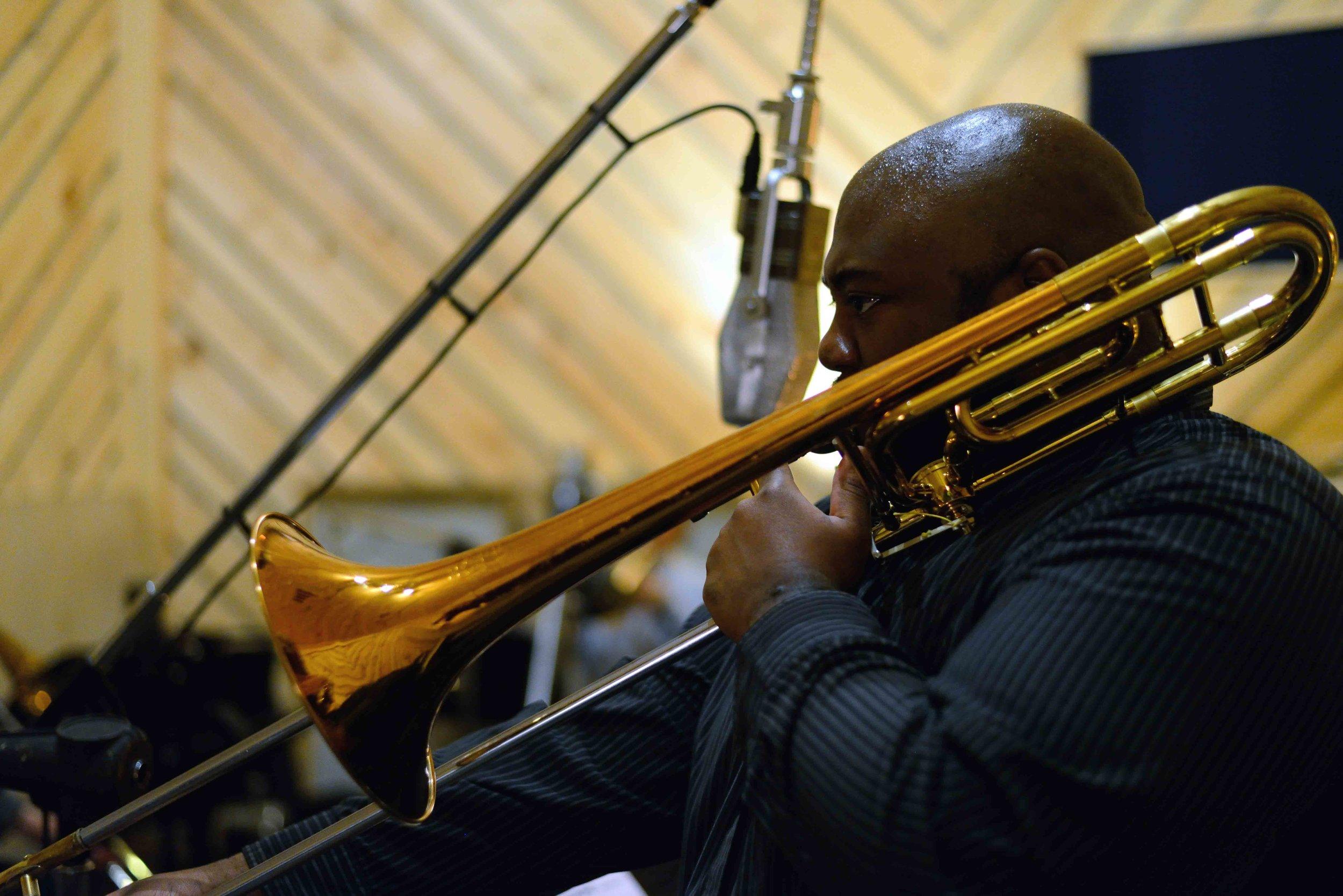 The Chase Recording Session-The Bunker Studio-David White, tromb