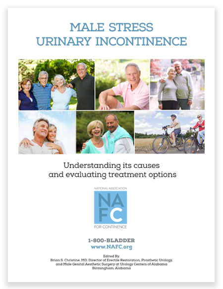 Click here to download your free brochure on stress urinary incontinence in men, including information about its causes and treatment options.