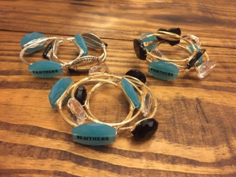 Wire Wrapped Bracelets - EtsyIf you'd rather wear an LBD, these bangles will still show your team spirit!