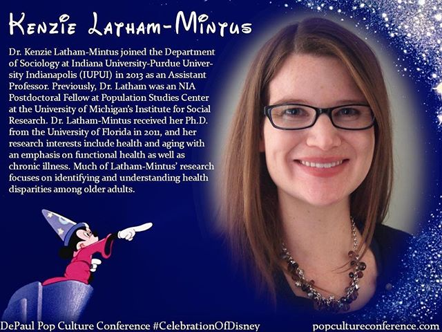 Introducing Kenzie Latham-Mintus! Kenzie will be presenting on representations of disability in Disney films at our #CelebrationOfDisney. We hope to see you there! Free registration for #DePaulDisney is available through Eventbrite on our website, popcultureconference.com!