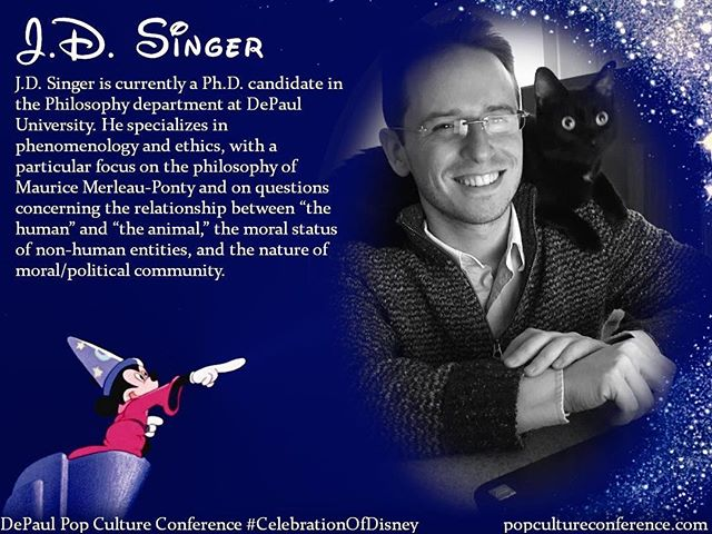 "Introducing J.D. Singer! J.D. will be presenting on community, Otherness, and the limits of classical liberalism in ""The Nightmare Before Christmas"" at our #CelebrationOfDisney. We hope to see you there! Free registration for #DePaulDisney is available through Eventbrite on our website, popcultureconference.com!"