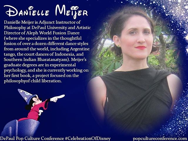 "Introducing Danielle Meijer! Danielle will be presenting on captive children and Stockholm syndrome in ""Beauty and the Beast"" at our #CelebrationOfDisney. We hope to see you there! Free registration for #DePaulDisney is available through Eventbrite on our website, popcultureconference.com!"