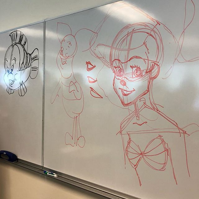 Some illustrations courtesy of The Little Mermaid animator Philo Barnhart. #depauldisney #depaulpopculture