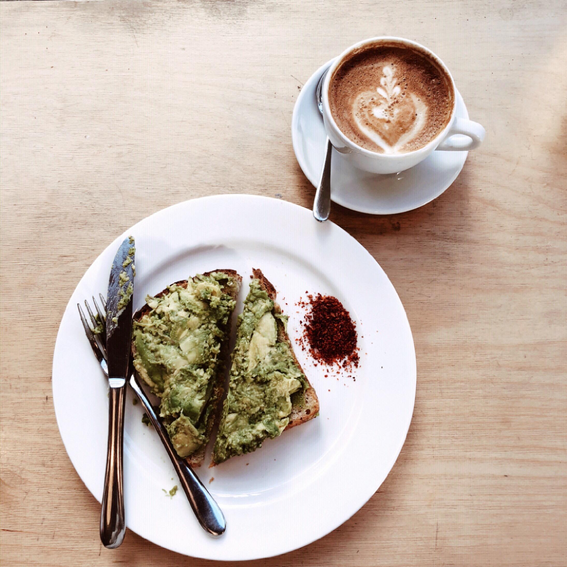coffee and avocado