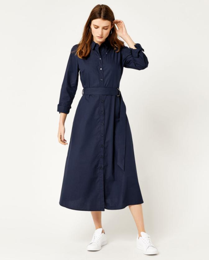 3. Midi Shirt Dress.