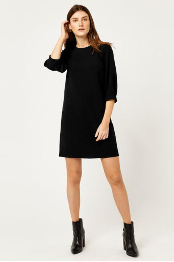 11. Black Crepe Dress.