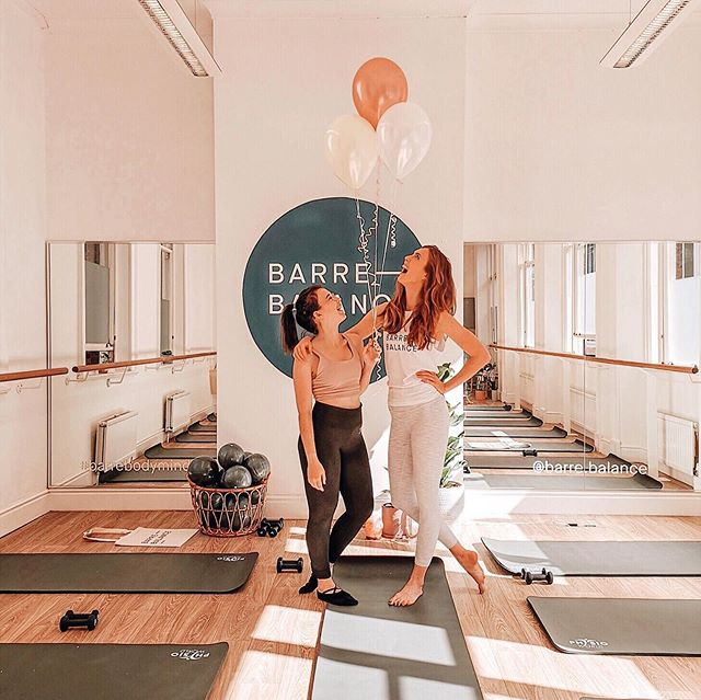 This weekend marked the opening of the first ever @barre.balance studio, and what a gorgeous space it is! Couldn't be prouder of @nattybutler and everything she's achieved this year. Can not wait to see what happens next 💖