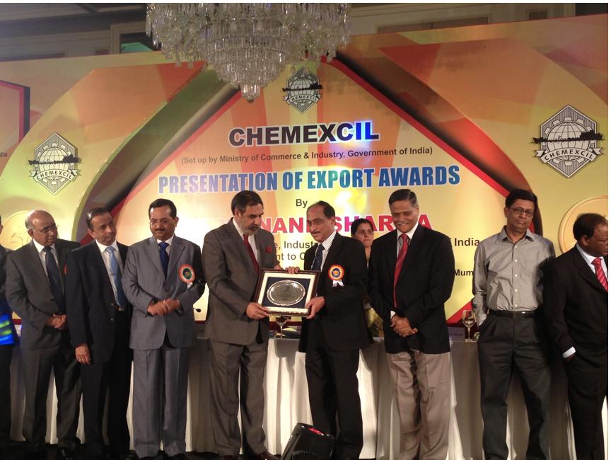 2013 Chemexcil Best Exports Award