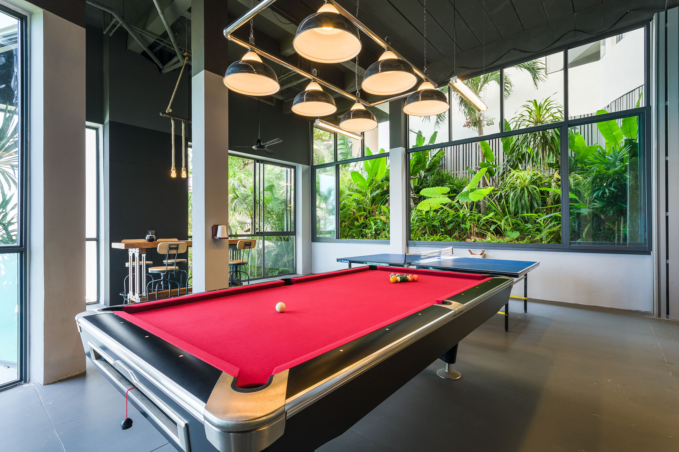 Billiard and table tennis