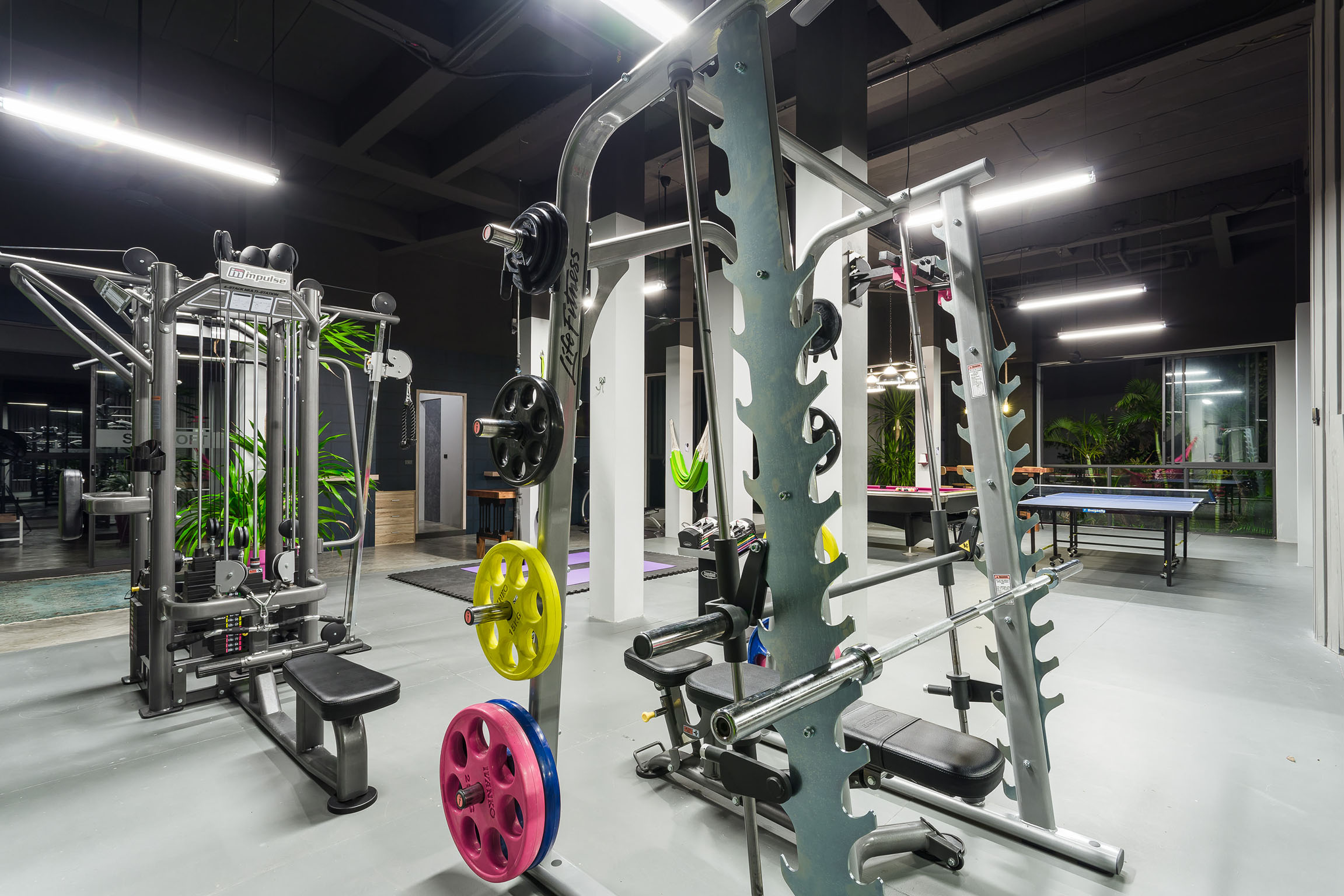 Full equipped fitness lounge