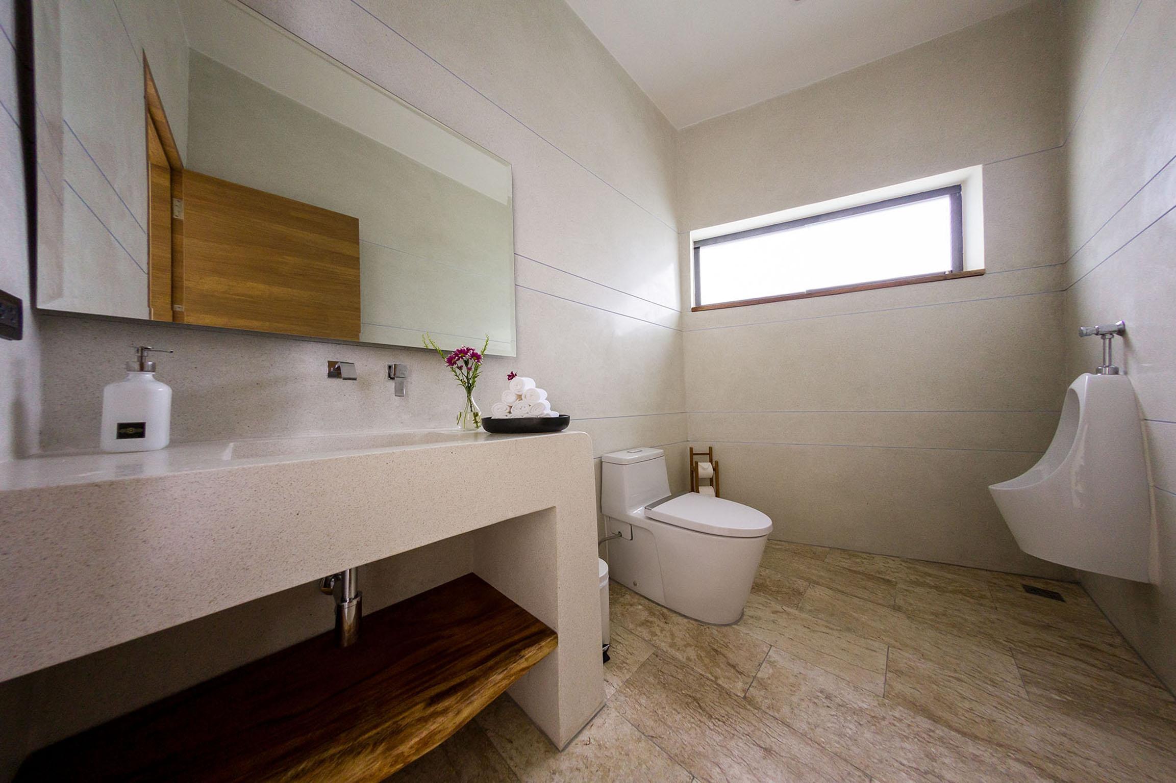 Dining area bathroom