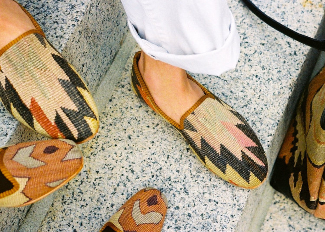 """4. ARTEMIS DESIGN CO. KILIM SMOKING SHOES - There has never been a time that I have worn these shoes and gone without compliment or a """"Where are those shoes from!"""" — they are my top crowd pleaser, hands down. I can't say how much I love these one-of-a-kind kilim smoking shoes from Artemis Design Co., especially now that the temperature is dropping, they are the perfect fall shoes."""