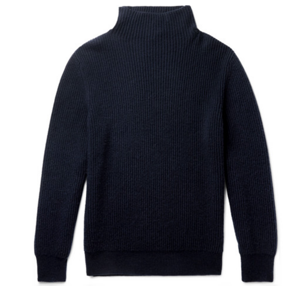 2. THE ROW: JACKSON RIBBED CASHMERE ROLLNECK SWEATER - Classic sweaters are a sure bet gift. I love this luxurious navy rollneck sweater from one of my favorite designers: The Row. Dressed up or worn casually, a good cashmere sweater is the epitome of low-key sophistication. Bonus that it's 100% cashmere and Italian made.—$1,695