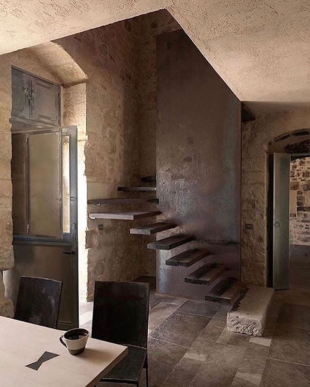 Floating stairs at Masseria Le Edicole in Sicily, Italy via @studiolowsheen #JBDesignInspo