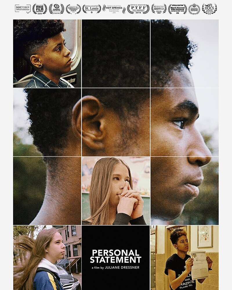 - Personal Statement is an emmy nominated feature-length documentary that follows Karoline, Christine and Enoch through their senior year and into college. The three Brooklyn high school seniors are determined to get their entire class to college, even though they aren't even sure they are going to make it there themselves.They are working as college counselors in their schools because many of their friends have nowhere else to turn for support. They work tirelessly as peer counselors to realize better futures for themselves and their peers. They struggle and they stumble, but refuse to succumb to the barriers that prevent so many low-income students from attending and graduating from college.