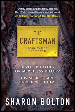 The Craftsman by Sharon Bolton (British) book cover image.jpg