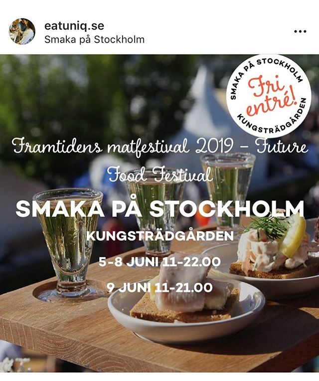 so HAPPY! to be a part of @eatuniq.se  always wanted to find a way to mix my passion for the humanitarian sector & food. EatUniq found a way to do storytelling through food to raise cultural awareness and integration! Today we participated in one of Stockholm's biggest food festivals #smakapåstockholm 🎉