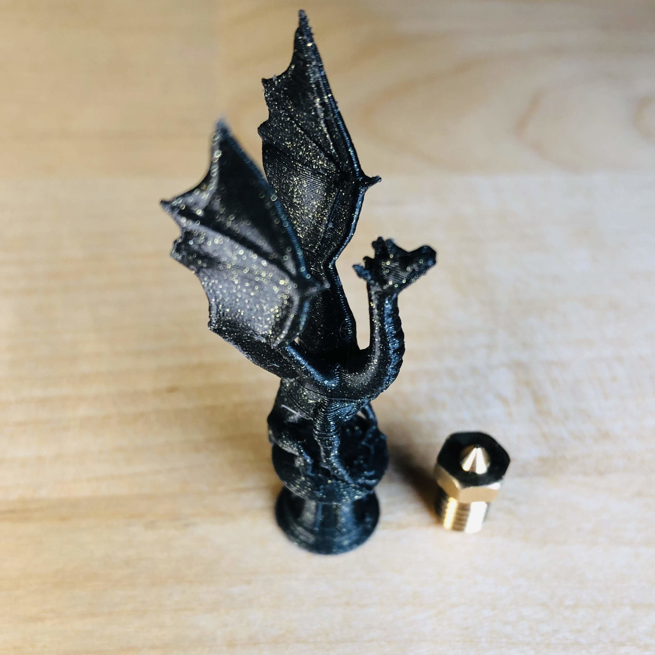 This little one doesn't have anything to do with this blog post other than it was printed on the Nautilus using the high-res B 250 Tool Cartridge and we wanted to share it! Designed by Thingivers user  loubie  and printed with  Fillamentum Vertigo Galaxy PLA .