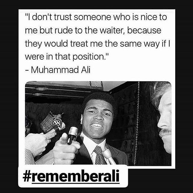 Remembering Muhammad Ali 2 years on!  #rememberali #tipyourwaiter !