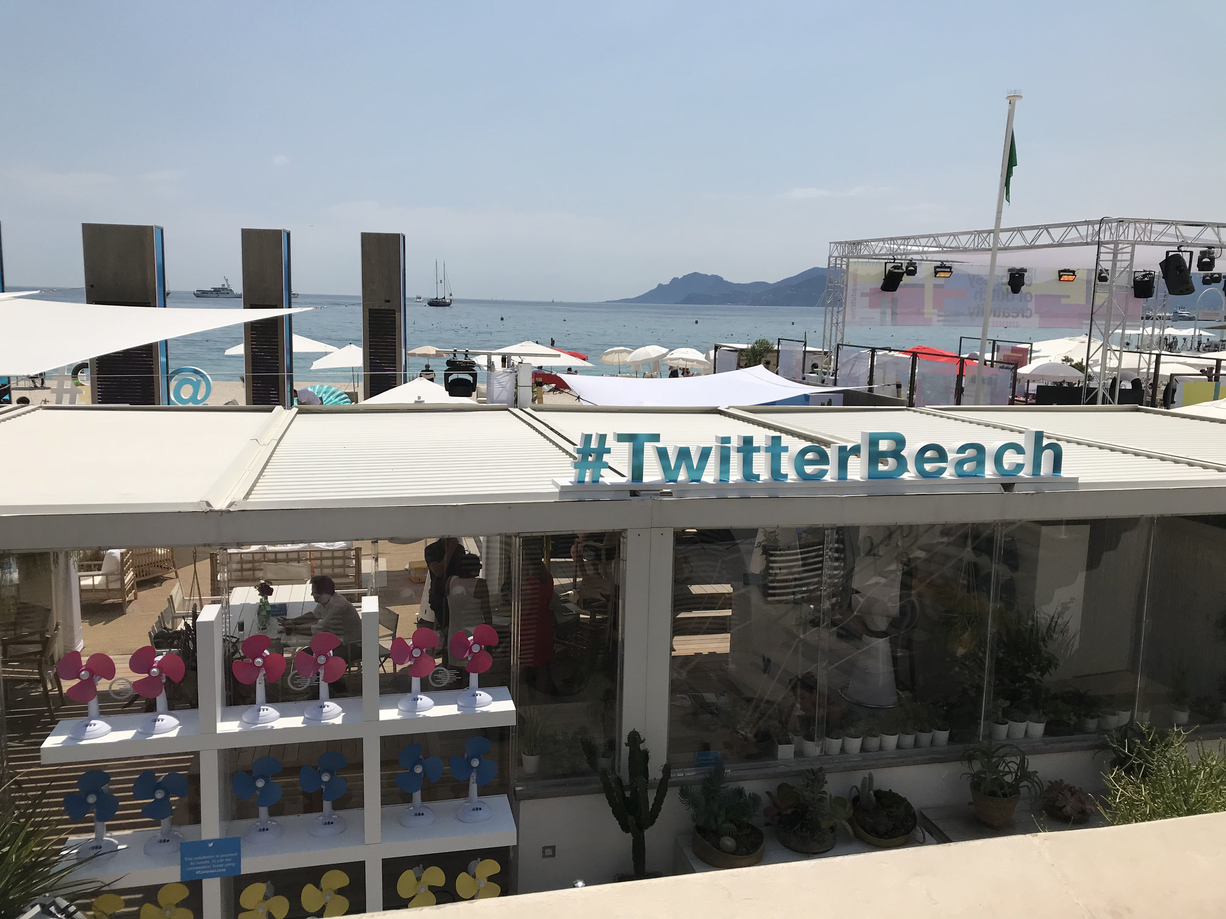 #TwitterBeach just beside the TNW event