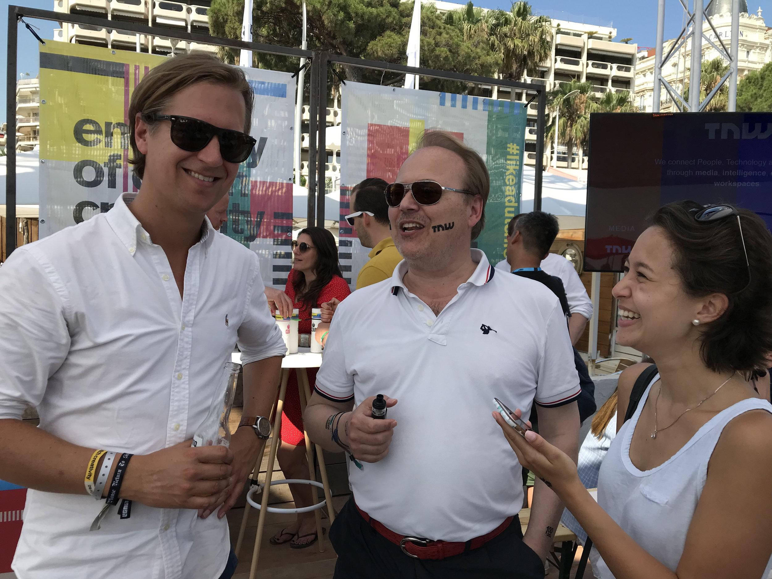 TNW Maarten Postma along with Christopher Mindus and Caroline Mindus