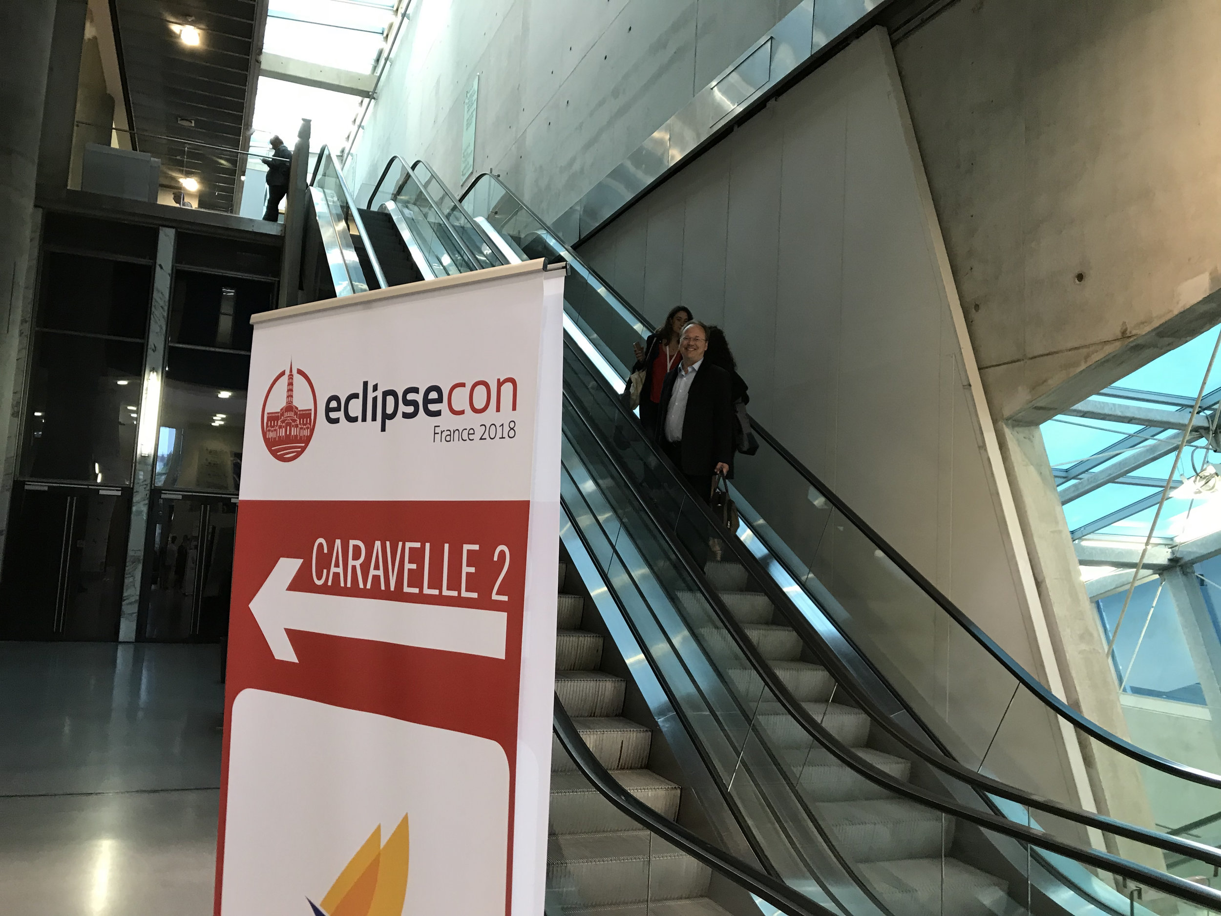 Up to the EclipseCon area in the conference building
