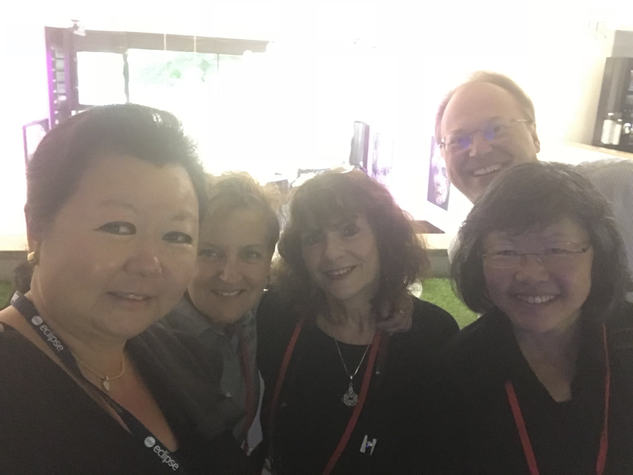 Nathalie Mindus at the EclipseCon unconference with the Eclipse team Perri Lavergne, Anne Jacko, Susan Iwai and Christopher Mindus