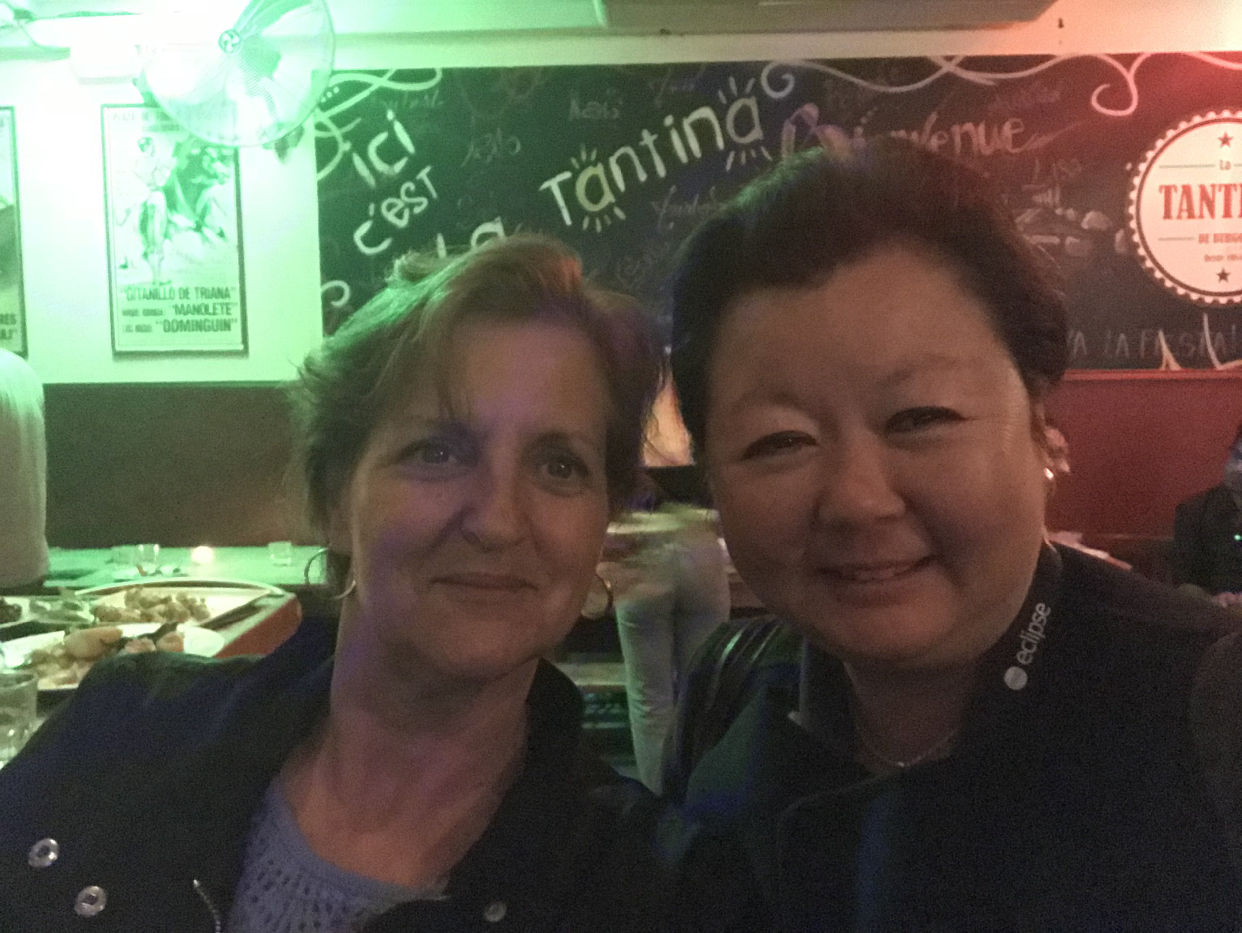 EclipseCon's Perri Lavergne with Nathalie Mindus