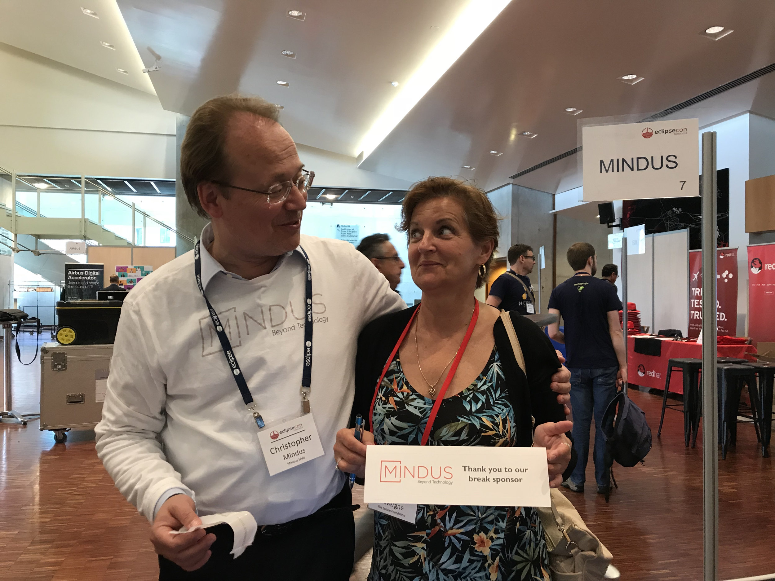 Christopher Mindus with EclipseCon's Perri Lavergne