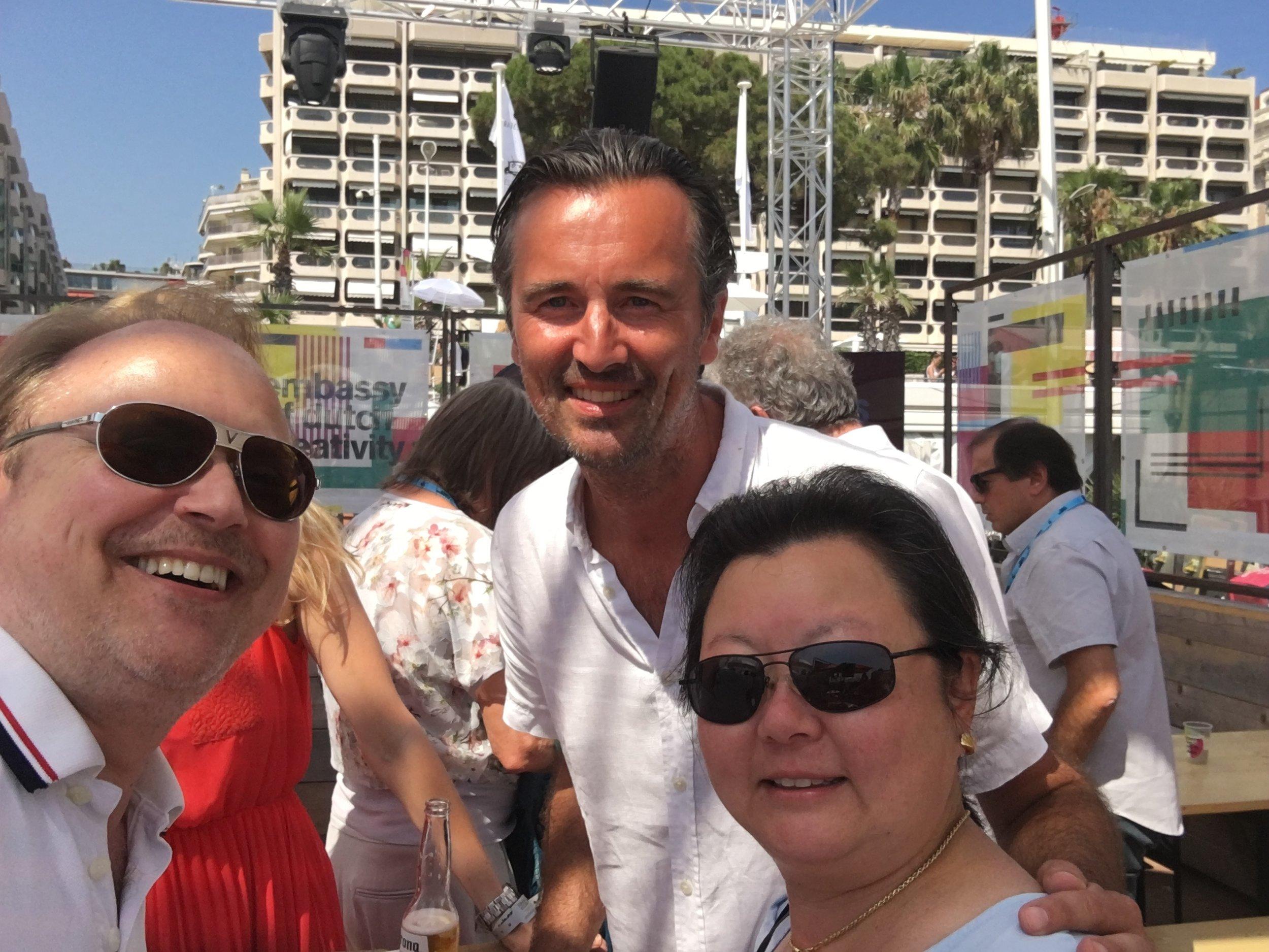 TNW CEO & Co-founder Boris Veldhuijzen Van Zanten with Christopher and Nathalie Mindus