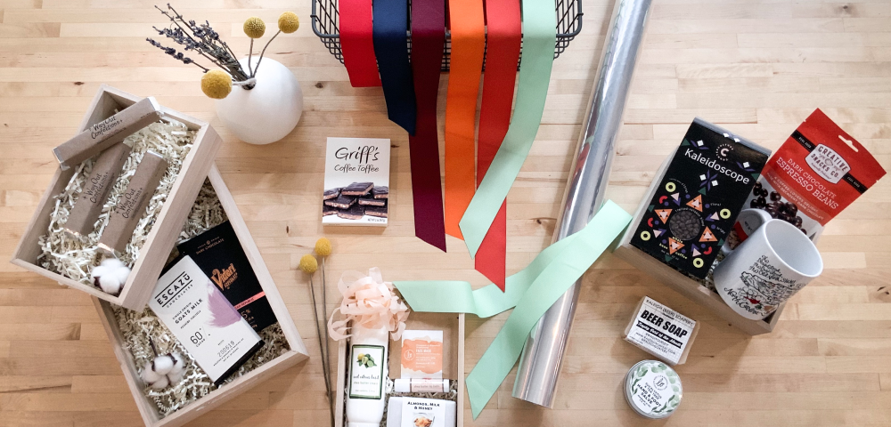 Custom Local NC Gift Basket Wrapping at Raleigh Provisions