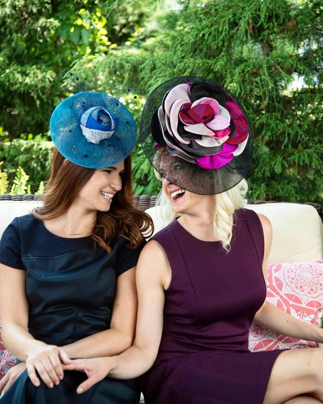 When @lauraleepants and I get to dress like the nice midwest ladies our parents think we are 😜👒💅 . . . Repost from: @camhatsnyc 📸: @daviddobsonphoto . . . #model #hats #milliner #cheesin #midwest #bornandraised #eastcoastlifestyle #bigcity #nicegirls #dontchaknow #actor #actress #hustle #fasteners #print #missingsummer #color #outdoorshoot